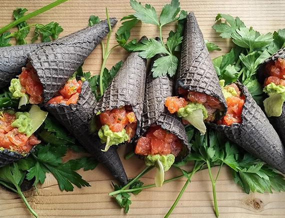 Cured Sockeye + Avocado Cones
