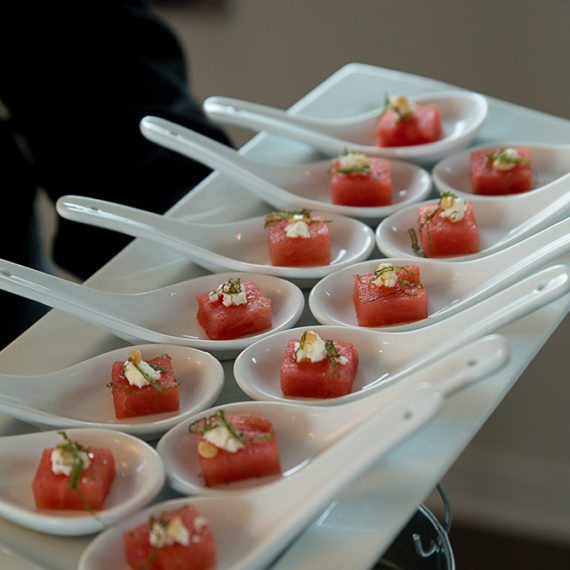 Watermelon Feta Spoons - Forever After Wedding Films (2)